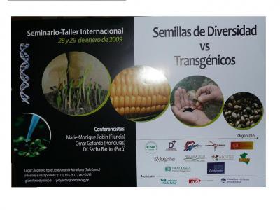 PRIMER SEMINARIO INTERNACIONAL SEMILLAS DE DIVERSIDAD V/S TRANSGÉNICOS